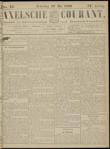 Axelsche Courant 1918-05-18