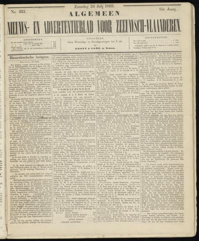 Ter Neuzensche Courant. Algemeen Nieuws- en Advertentieblad voor Zeeuwsch-Vlaanderen / Neuzensche Courant ... (idem) / (Algemeen) nieuws en advertentieblad voor Zeeuwsch-Vlaanderen 1869-07-24