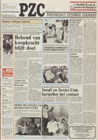 Provinciale Zeeuwse Courant 1986-08-02