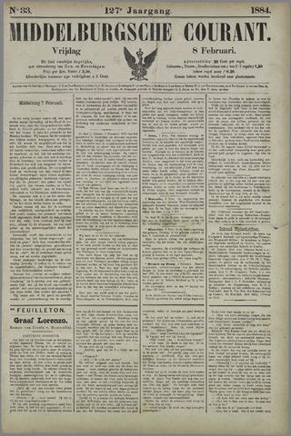 Middelburgsche Courant 1884-02-08