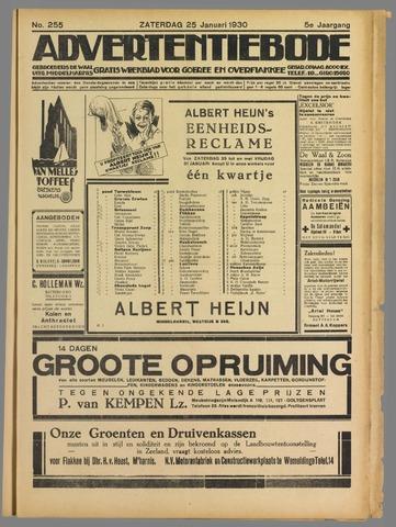 Advertentieblad. Gratis weekblad voor Goeree en Overflakkee 1930-01-25