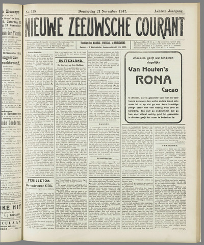 Nieuwe Zeeuwsche Courant 1912-11-21
