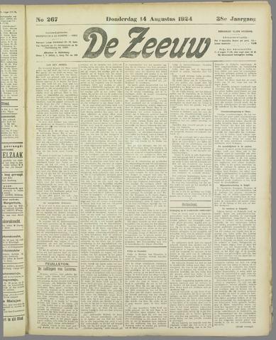 De Zeeuw. Christelijk-historisch nieuwsblad voor Zeeland 1924-08-14