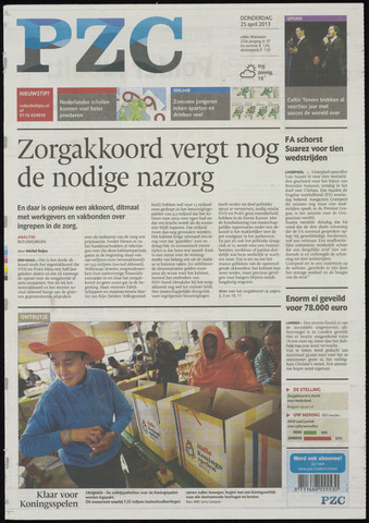 Provinciale Zeeuwse Courant 2013-04-25