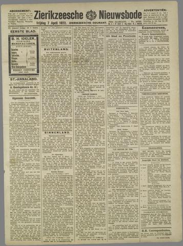 Zierikzeesche Nieuwsbode 1922-04-07