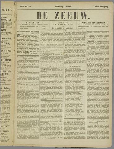 De Zeeuw. Christelijk-historisch nieuwsblad voor Zeeland 1890-03-01