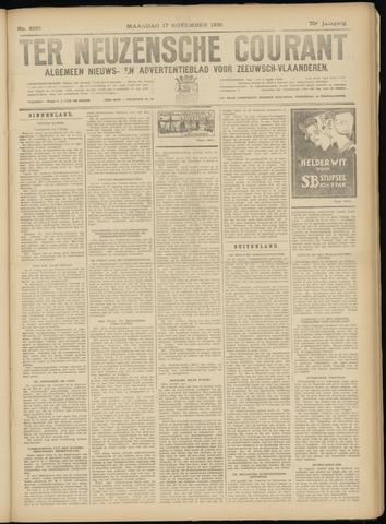 Ter Neuzensche Courant. Algemeen Nieuws- en Advertentieblad voor Zeeuwsch-Vlaanderen / Neuzensche Courant ... (idem) / (Algemeen) nieuws en advertentieblad voor Zeeuwsch-Vlaanderen 1930-11-17