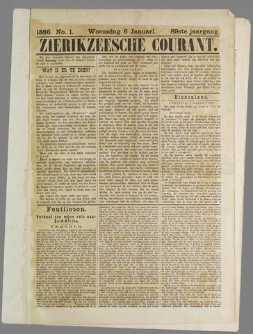 Zierikzeesche Courant 1886
