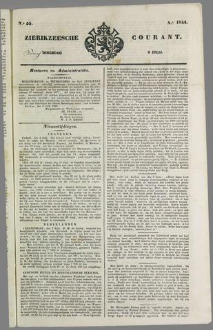 Zierikzeesche Courant 1844-07-09