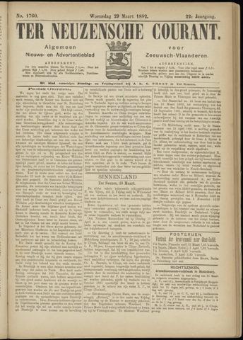 Ter Neuzensche Courant. Algemeen Nieuws- en Advertentieblad voor Zeeuwsch-Vlaanderen / Neuzensche Courant ... (idem) / (Algemeen) nieuws en advertentieblad voor Zeeuwsch-Vlaanderen 1882-03-29