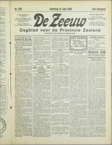De Zeeuw. Christelijk-historisch nieuwsblad voor Zeeland 1930-06-21