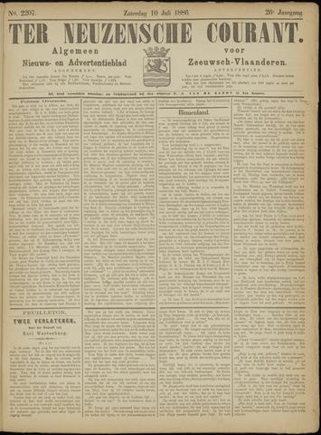 Ter Neuzensche Courant. Algemeen Nieuws- en Advertentieblad voor Zeeuwsch-Vlaanderen / Neuzensche Courant ... (idem) / (Algemeen) nieuws en advertentieblad voor Zeeuwsch-Vlaanderen 1886-07-10