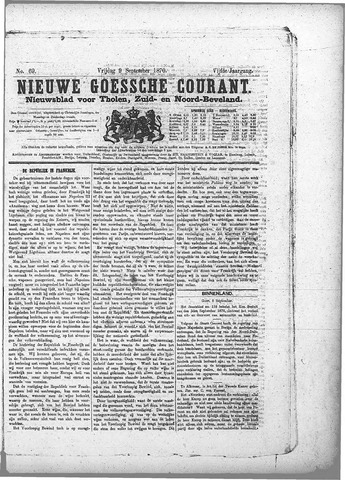 Nieuwe Goessche Courant 1870-09-09