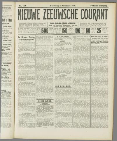 Nieuwe Zeeuwsche Courant 1916-11-02