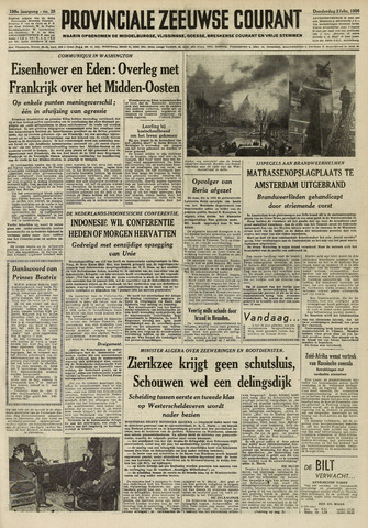 Provinciale Zeeuwse Courant 1956-02-02