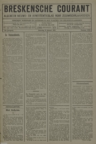 Breskensche Courant 1919-01-18