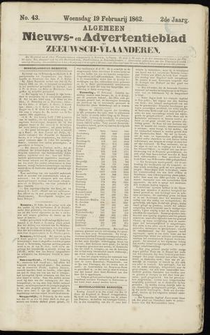 Ter Neuzensche Courant. Algemeen Nieuws- en Advertentieblad voor Zeeuwsch-Vlaanderen / Neuzensche Courant ... (idem) / (Algemeen) nieuws en advertentieblad voor Zeeuwsch-Vlaanderen 1862-02-19