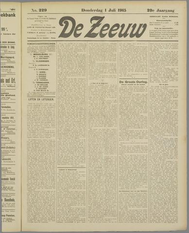 De Zeeuw. Christelijk-historisch nieuwsblad voor Zeeland 1915-07-01