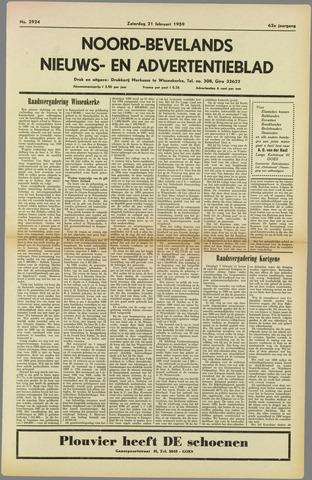 Noord-Bevelands Nieuws- en advertentieblad 1959-02-21