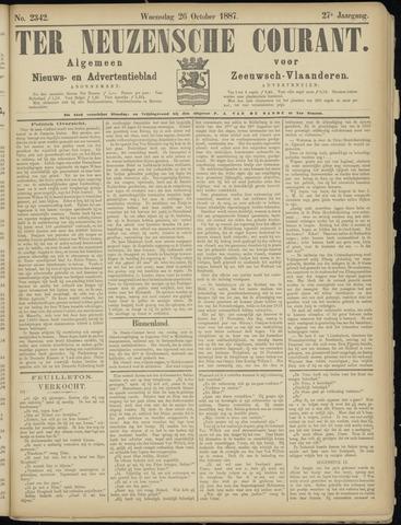 Ter Neuzensche Courant. Algemeen Nieuws- en Advertentieblad voor Zeeuwsch-Vlaanderen / Neuzensche Courant ... (idem) / (Algemeen) nieuws en advertentieblad voor Zeeuwsch-Vlaanderen 1887-10-26