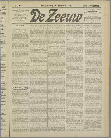 De Zeeuw. Christelijk-historisch nieuwsblad voor Zeeland 1915-01-07
