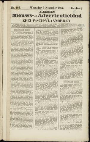 Ter Neuzensche Courant. Algemeen Nieuws- en Advertentieblad voor Zeeuwsch-Vlaanderen / Neuzensche Courant ... (idem) / (Algemeen) nieuws en advertentieblad voor Zeeuwsch-Vlaanderen 1864-11-09