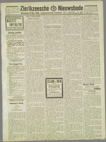 Zierikzeesche Nieuwsbode 1926-11-24