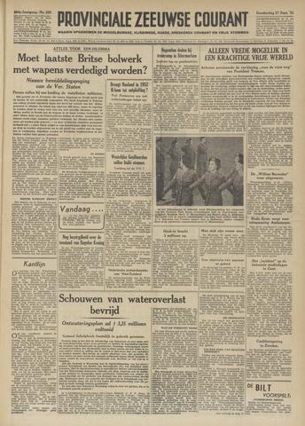 Provinciale Zeeuwse Courant 1951-09-27