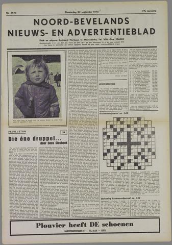 Noord-Bevelands Nieuws- en advertentieblad 1973-09-20
