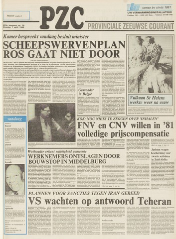 Provinciale Zeeuwse Courant 1980-04-01