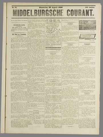 Middelburgsche Courant 1925-04-20