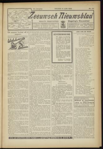 Zeeuwsch Nieuwsblad/Wegeling's Nieuwsblad 1935-06-14