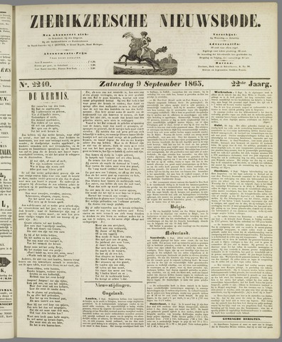 Zierikzeesche Nieuwsbode 1865-09-09