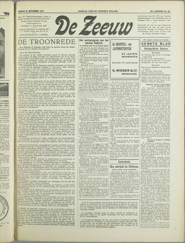 De Zeeuw. Christelijk-historisch nieuwsblad voor Zeeland 1937-09-21