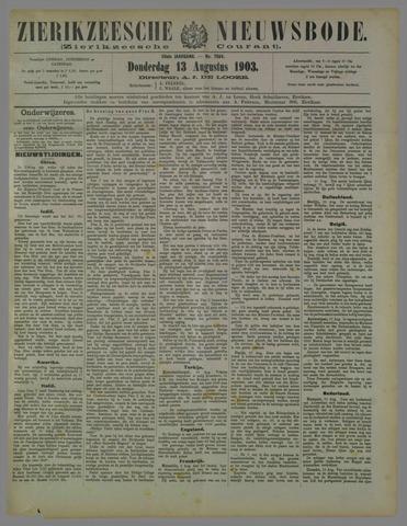Zierikzeesche Nieuwsbode 1903-08-13