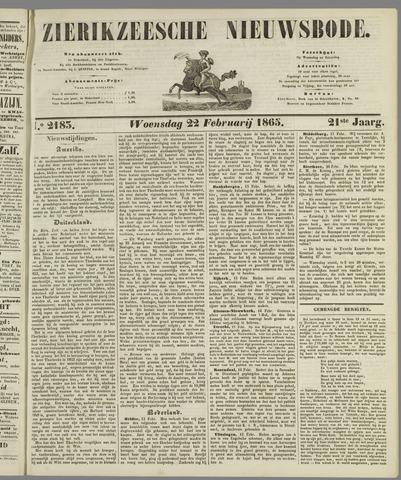 Zierikzeesche Nieuwsbode 1865-02-22