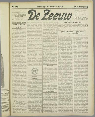 De Zeeuw. Christelijk-historisch nieuwsblad voor Zeeland 1924-01-19