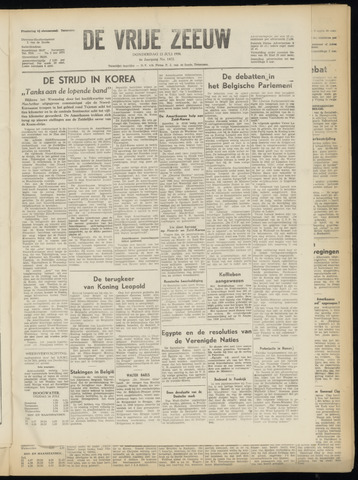 de Vrije Zeeuw 1950-07-13