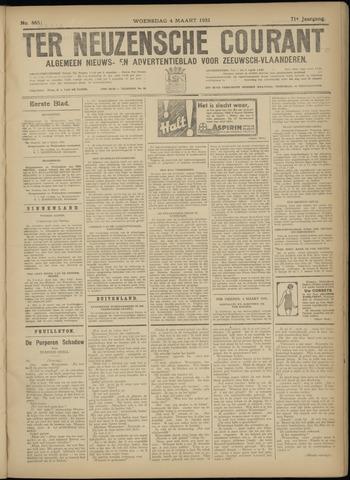 Ter Neuzensche Courant. Algemeen Nieuws- en Advertentieblad voor Zeeuwsch-Vlaanderen / Neuzensche Courant ... (idem) / (Algemeen) nieuws en advertentieblad voor Zeeuwsch-Vlaanderen 1931-03-04