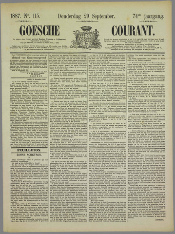 Goessche Courant 1887-09-29
