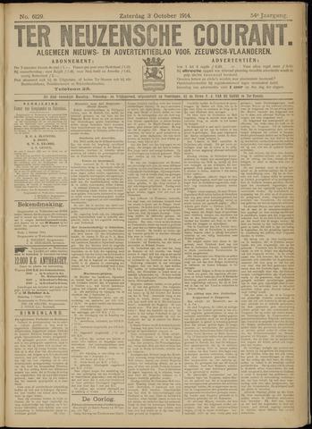 Ter Neuzensche Courant. Algemeen Nieuws- en Advertentieblad voor Zeeuwsch-Vlaanderen / Neuzensche Courant ... (idem) / (Algemeen) nieuws en advertentieblad voor Zeeuwsch-Vlaanderen 1914-10-03