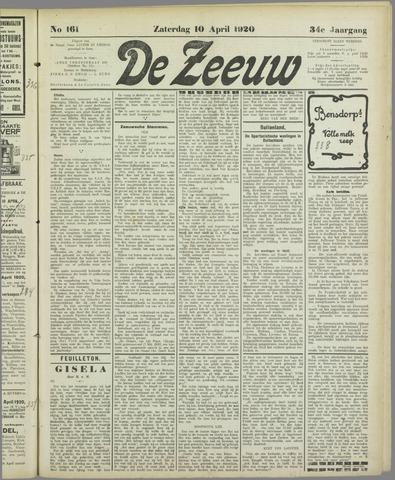 De Zeeuw. Christelijk-historisch nieuwsblad voor Zeeland 1920-04-10