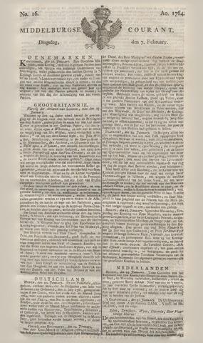 Middelburgsche Courant 1764-02-07