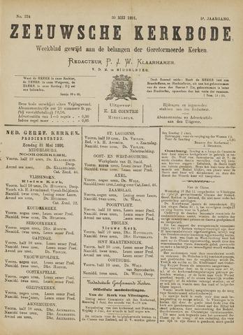 Zeeuwsche kerkbode, weekblad gewijd aan de belangen der gereformeerde kerken/ Zeeuwsch kerkblad 1891-05-30