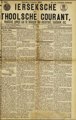 Ierseksche en Thoolsche Courant 1908-10-03