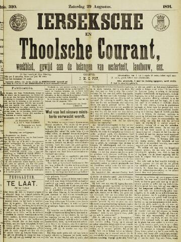 Ierseksche en Thoolsche Courant 1891-08-29