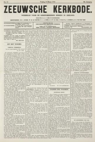 Zeeuwsche kerkbode, weekblad gewijd aan de belangen der gereformeerde kerken/ Zeeuwsch kerkblad 1934-03-23