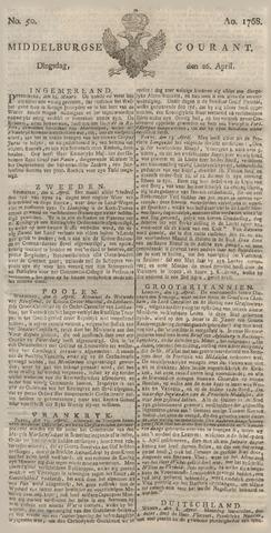 Middelburgsche Courant 1768-04-26