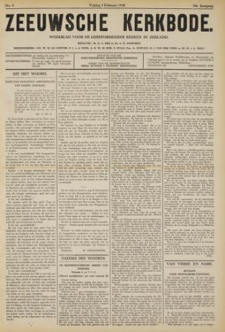 Zeeuwsche kerkbode, weekblad gewijd aan de belangen der gereformeerde kerken/ Zeeuwsch kerkblad 1940-02-02