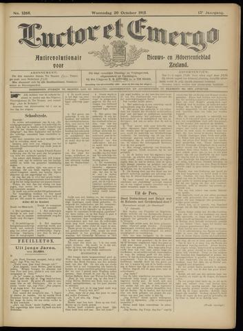 Luctor et Emergo. Antirevolutionair nieuws- en advertentieblad voor Zeeland / Zeeuwsch-Vlaanderen. Orgaan ter verspreiding van de christelijke beginselen in Zeeuwsch-Vlaanderen 1915-10-20